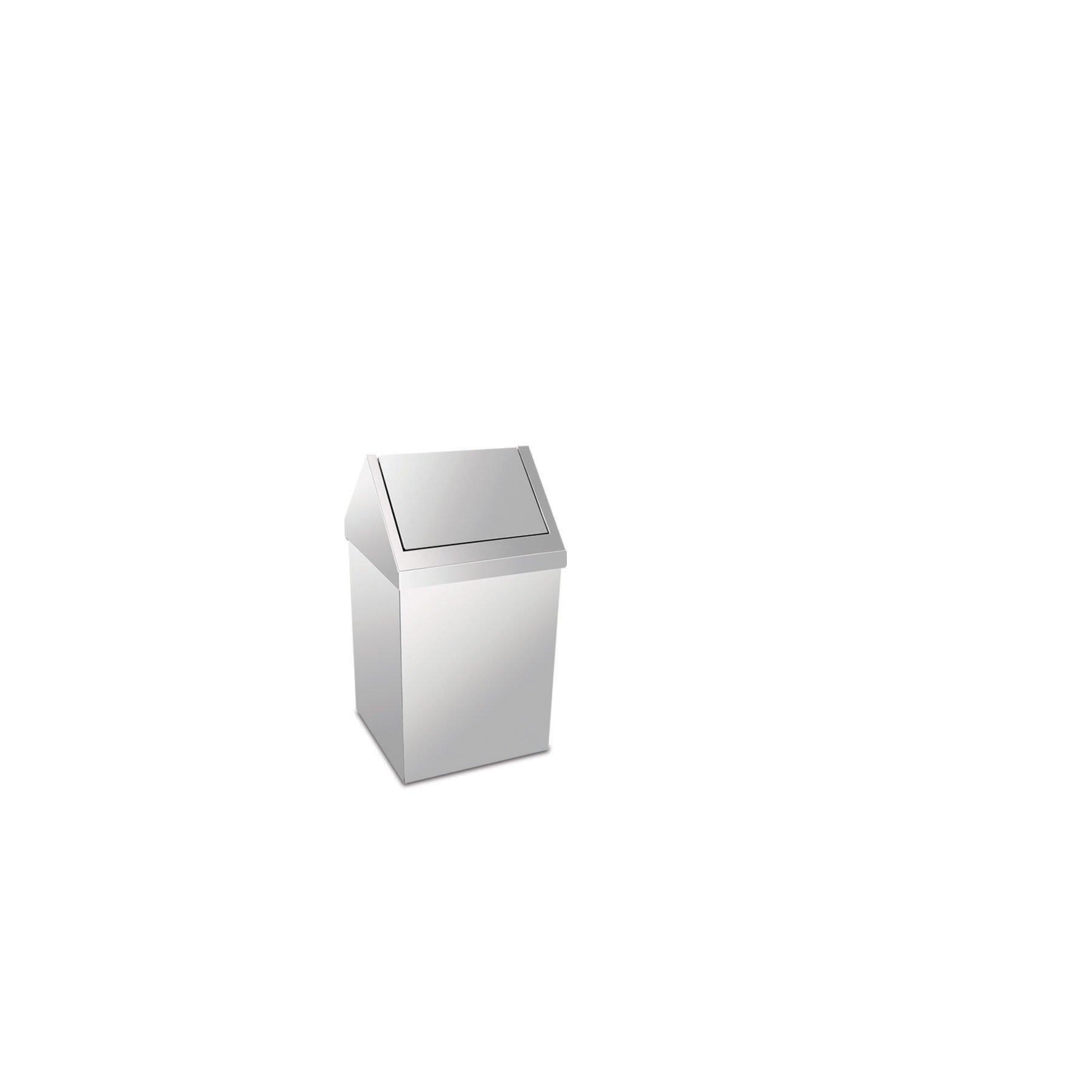 Krom Çatı Kapaklı Çöp Kovası 6 Lt