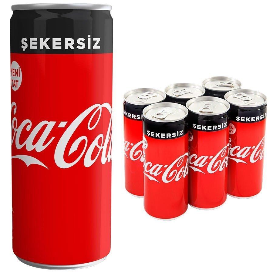 Coca-Cola Şekersiz Kutu 250 ml 6'lı