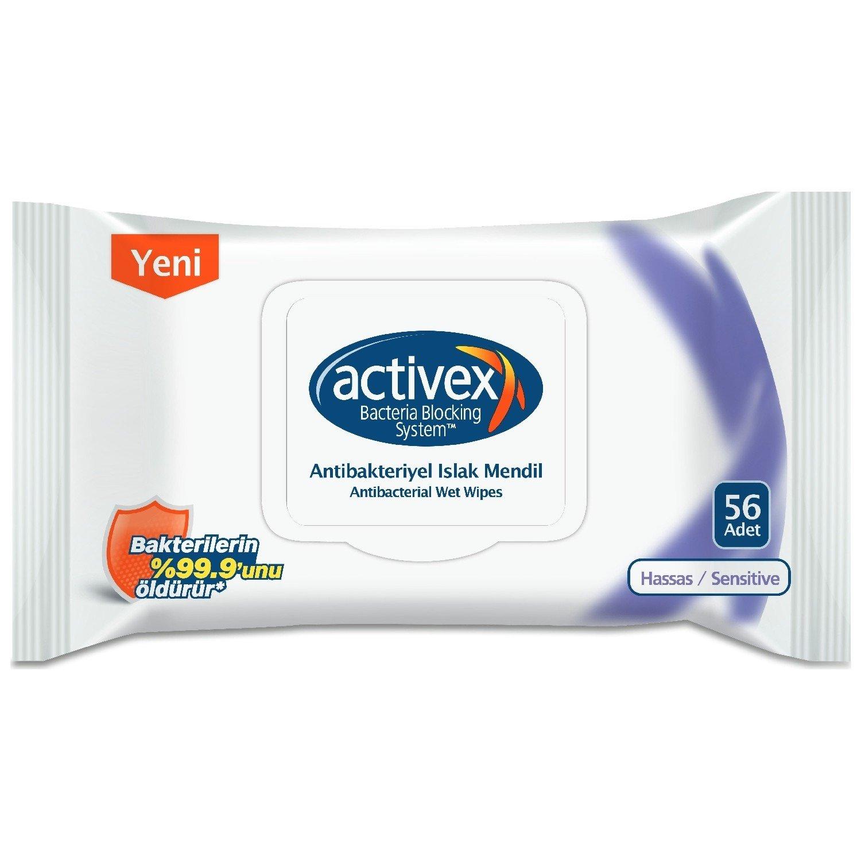 Activex Antibakteriyel Islak Mendil Hassas