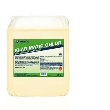Klar Matıc Chlor Klor İçeren Bulaşık Makine Deterjanı