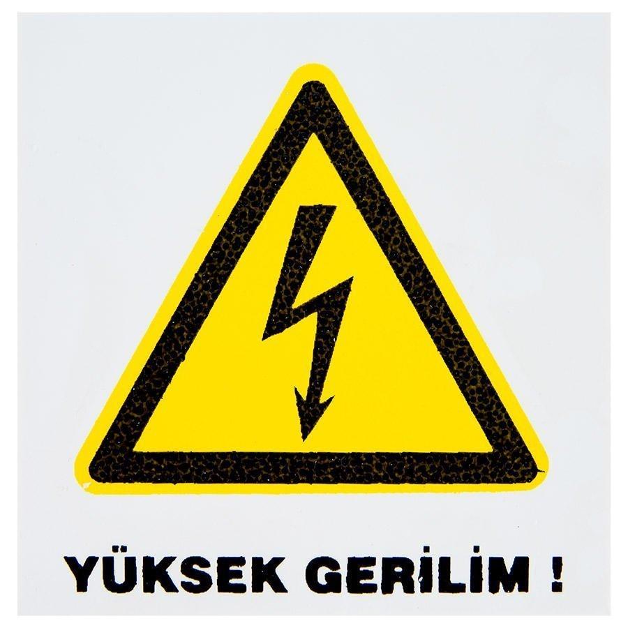 Yüksek Gerilim PVC Dekota Uyarı Levhası P2A-02218