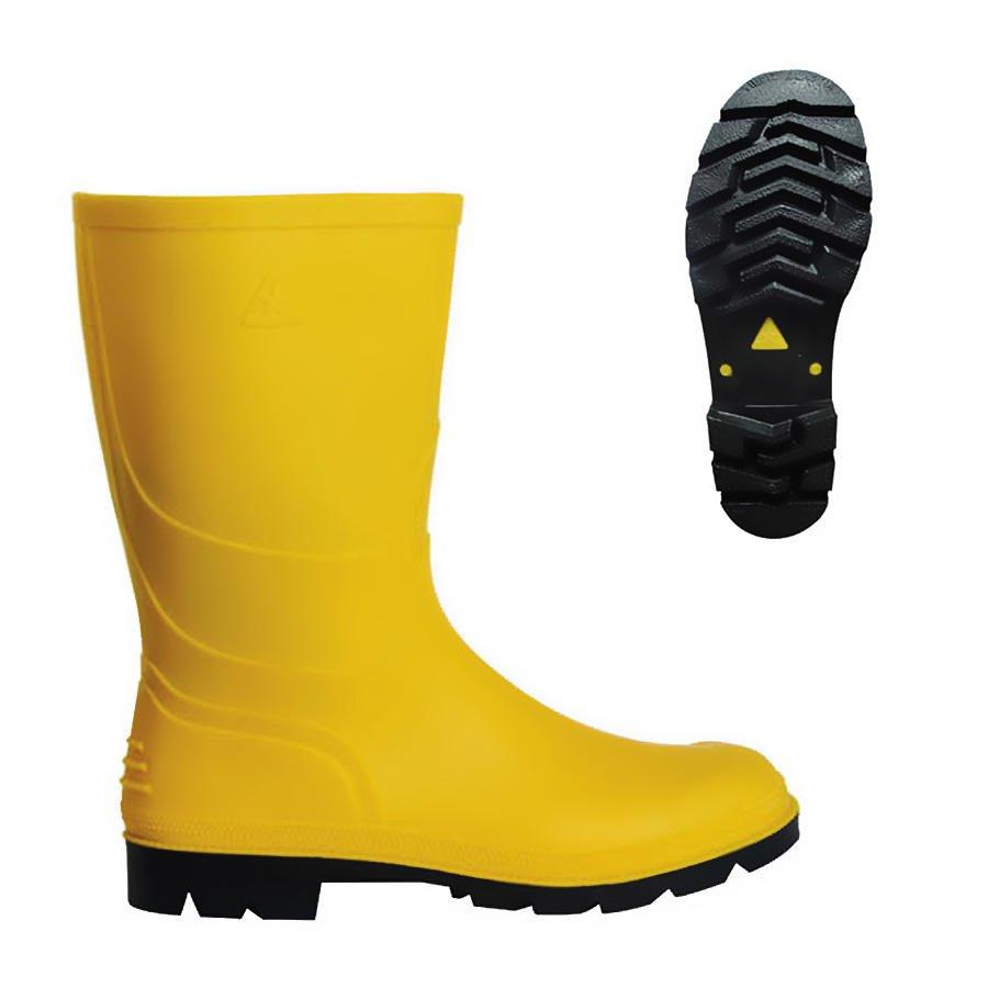 PVC Kısa Çizme Sarı